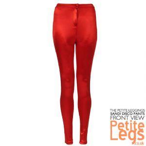Sandi Metallic Red Petite Inseam Disco Pants